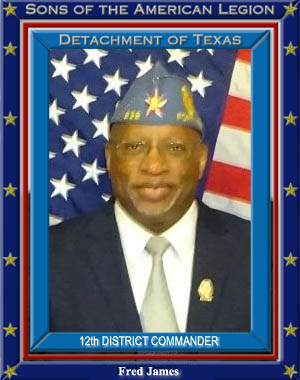 Fred James 12th District Commander