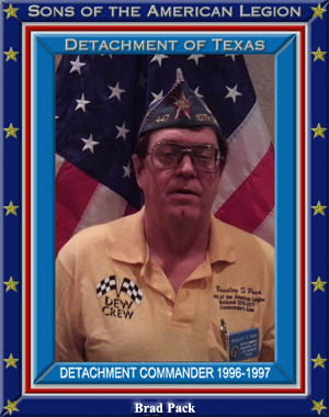 Brad Pack Commander Detachment of Texas 1996 - 1997