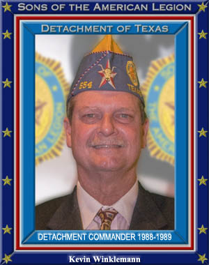 Kevin Winklemann Commander Detachment of Texas 1988 - 1989, 1986 - 1987